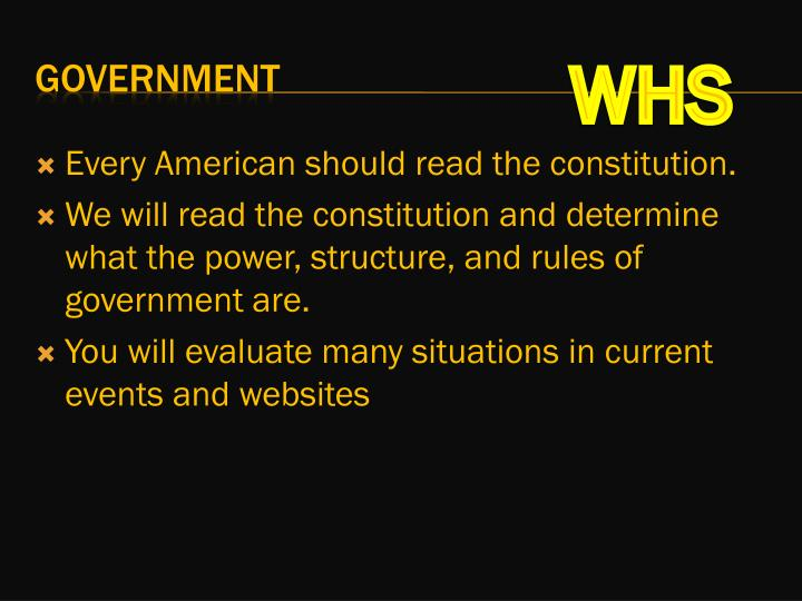 Every American should read the constitution.