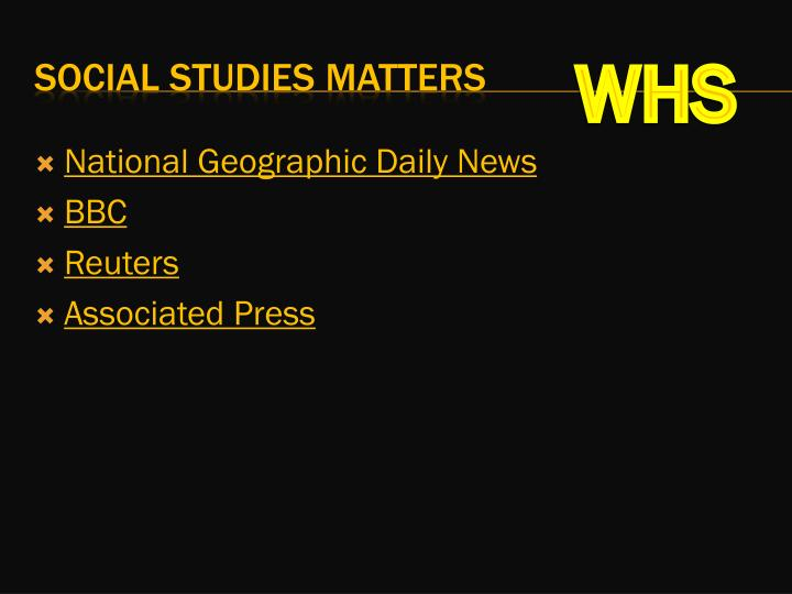 National Geographic Daily News