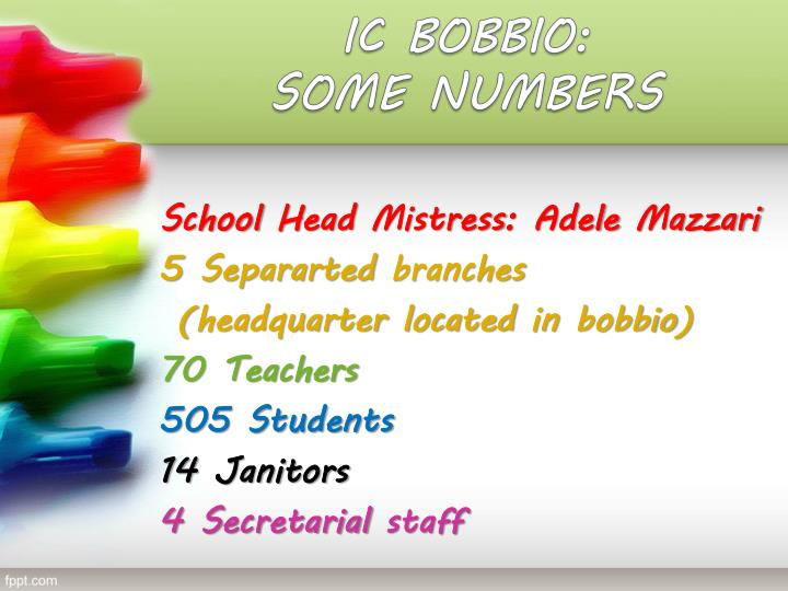 Ic bobbio some numbers