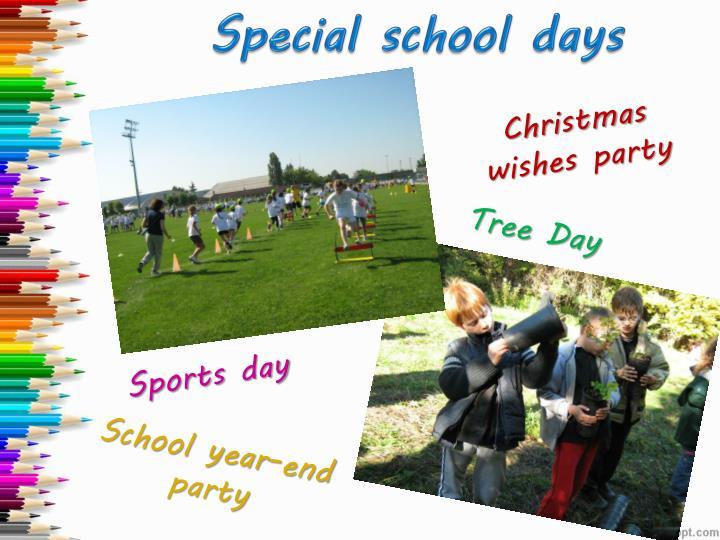 Special school days