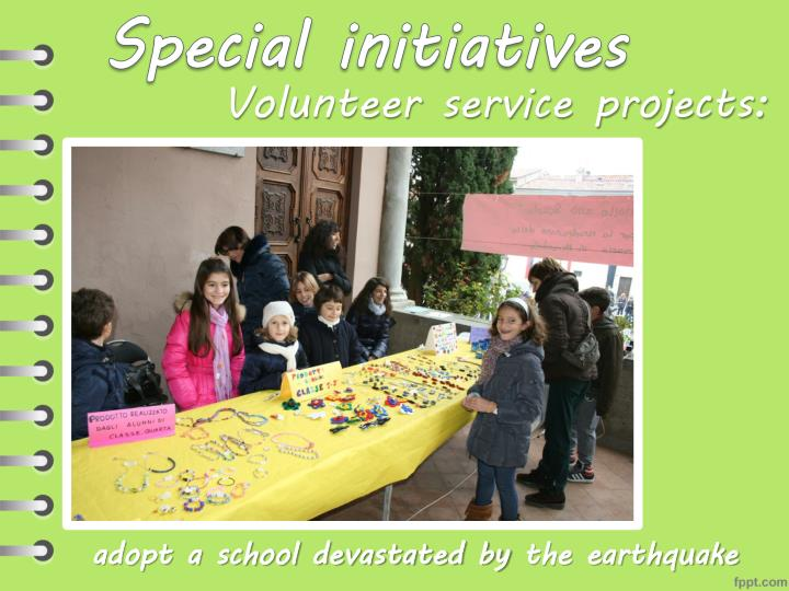 Volunteer service projects: