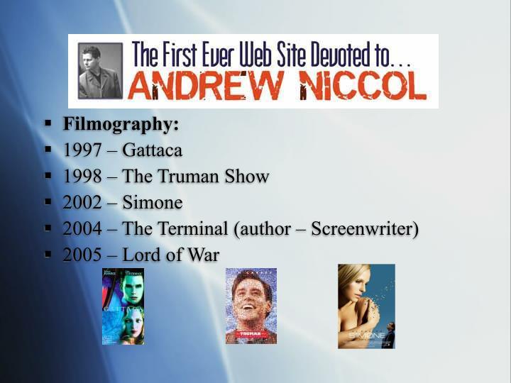 Filmography: