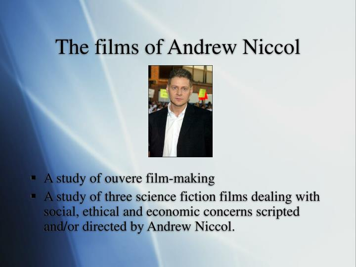 The films of Andrew Niccol
