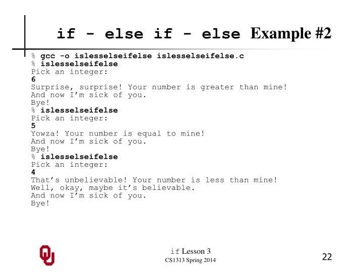 if - else if - else