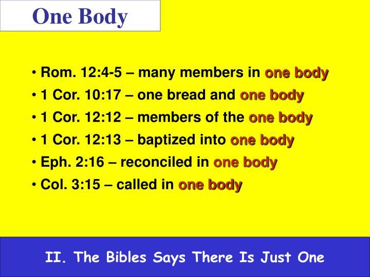 One Body