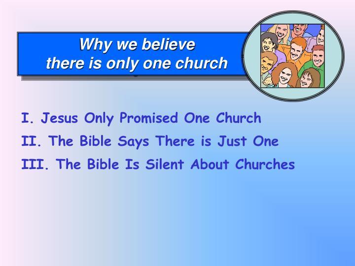 Why we believe