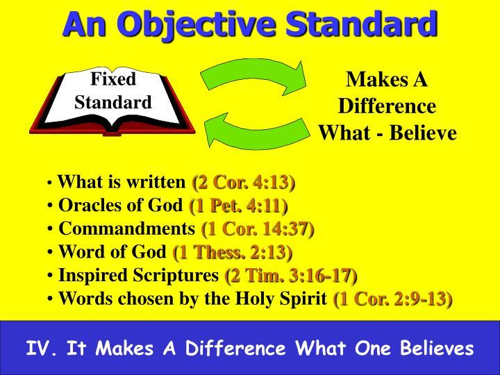An Objective Standard