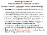 three questions in understanding stephen s sermon1