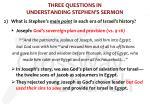 three questions in understanding stephen s sermon2