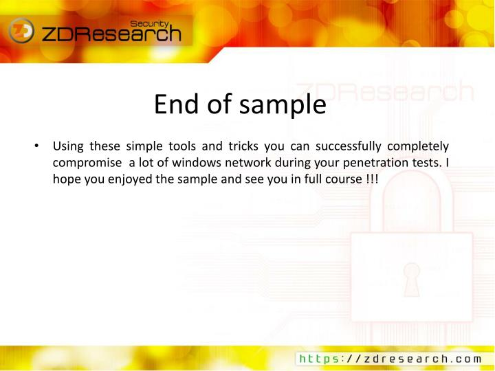 End of sample