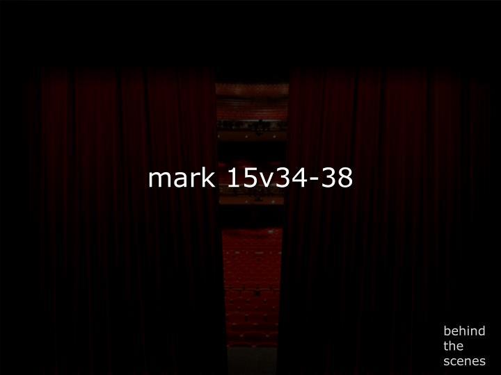 mark 15v34-38