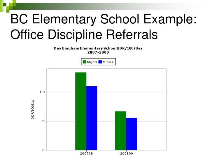 BC Elementary School Example: