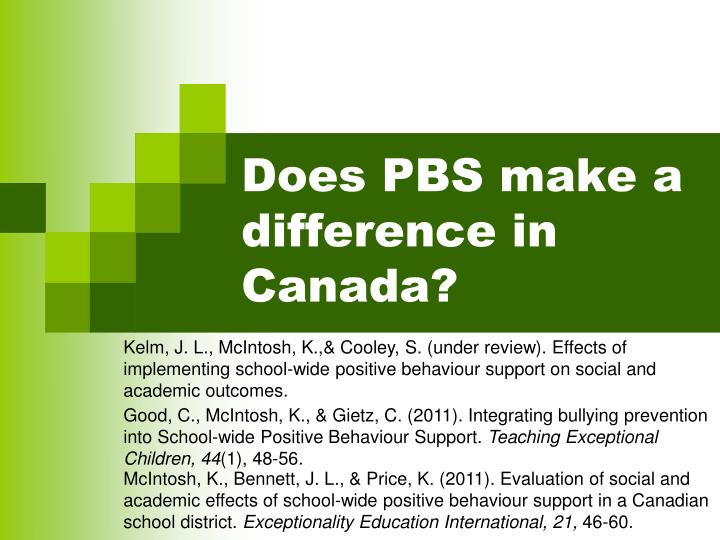 Does PBS make a difference in Canada?