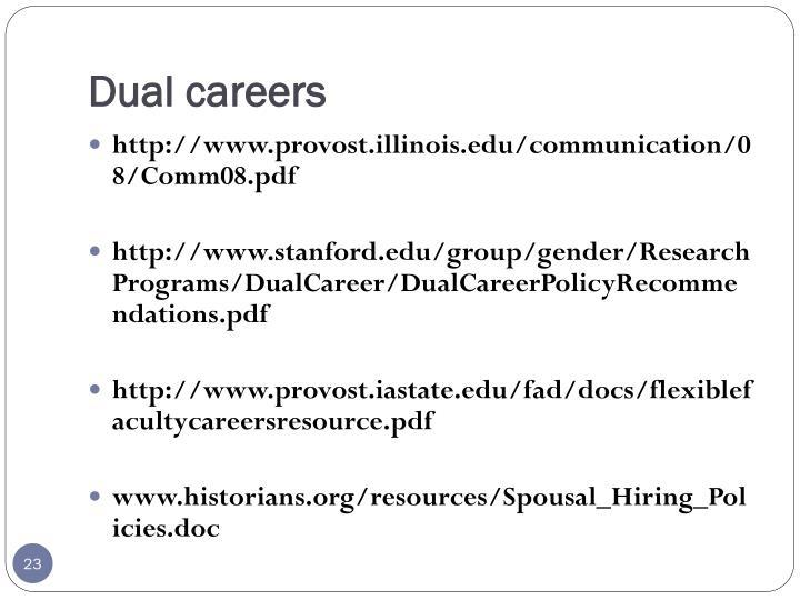 Dual careers