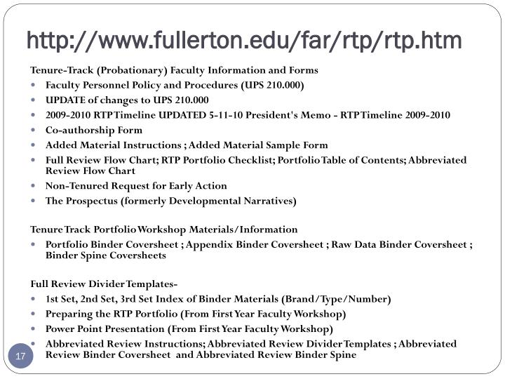 http://www.fullerton.edu/far/rtp/rtp.htm