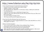 http www fullerton edu far rtp rtp htm