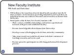 new faculty institute