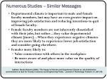 numerous studies similar messages