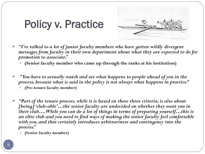 Policy v. Practice