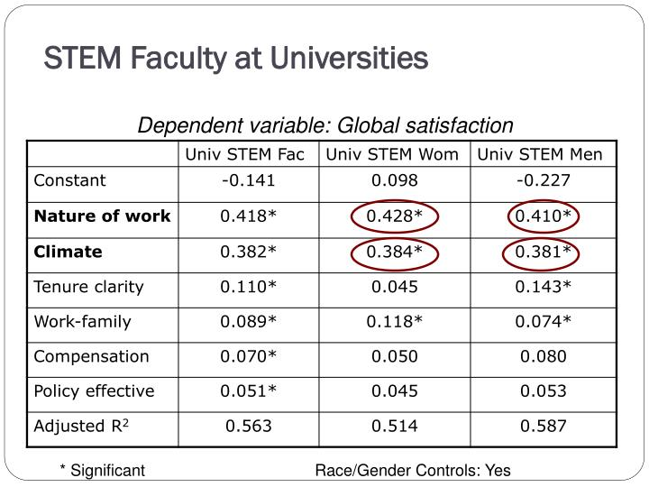 STEM Faculty at Universities