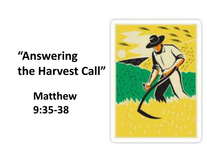 Answering the harvest call