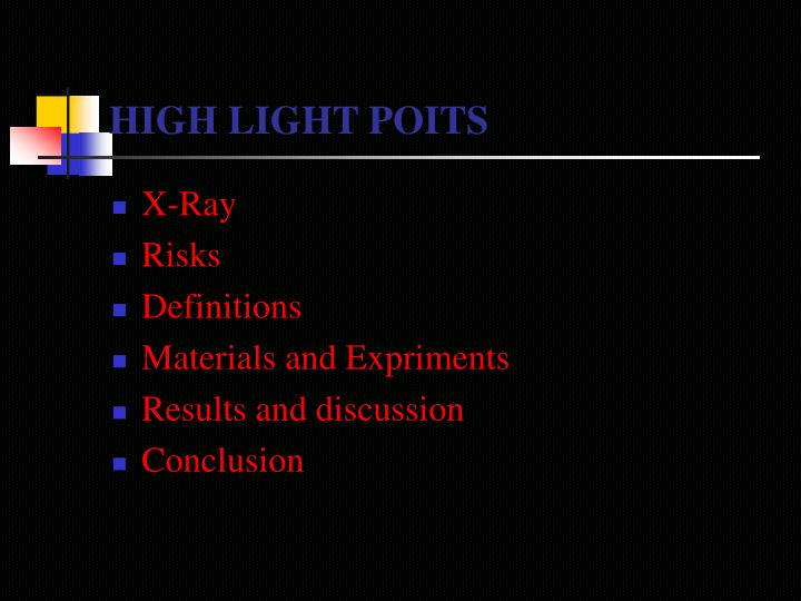 High light poits