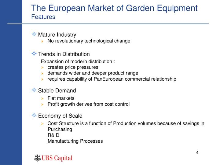 The European Market of Garden Equipment