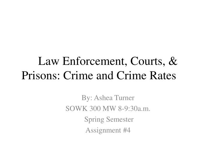 Law enforcement courts prisons crime and crime rates