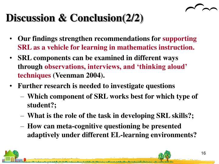 Discussion & Conclusion(2/2)