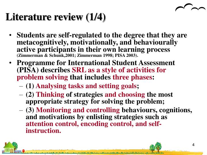 Literature review (1/4)