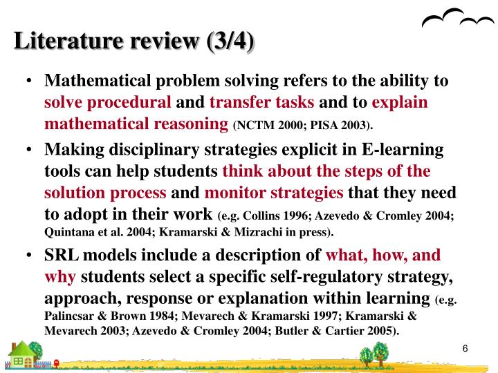 Literature review (3/4)