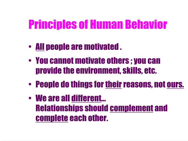 Principles of Human Behavior