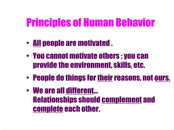 Principles of Human Behavior