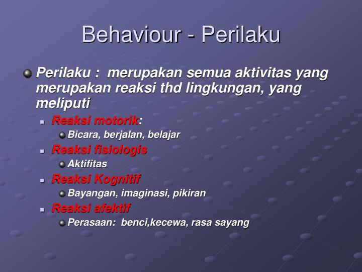Behaviour - Perilaku