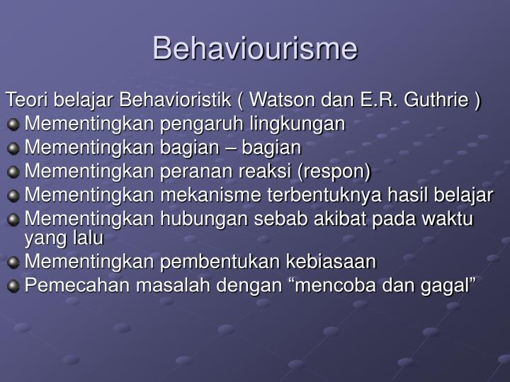Behaviourisme