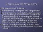 teori belajar behaviourisme