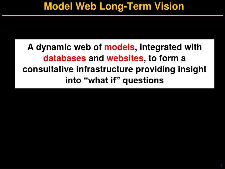 Model Web Long-Term Vision