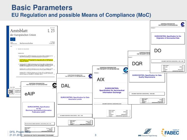 Basic parameters eu regulation and possible means of compliance moc