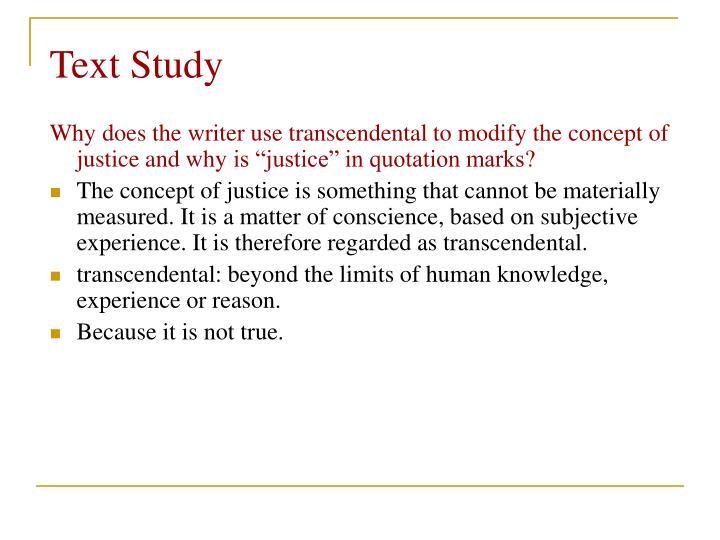 Text Study