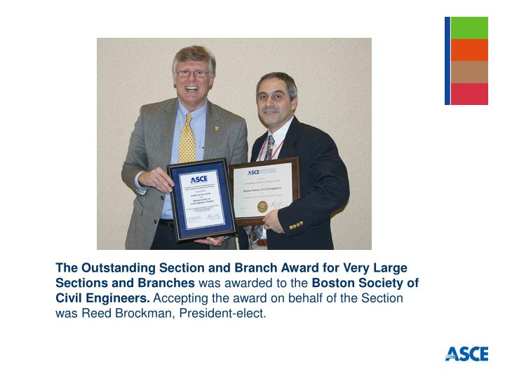 The Outstanding Section and Branch Award for Very Large Sections and Branches