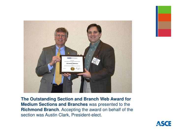 The Outstanding Section and Branch Web Award for Medium Sections and Branches