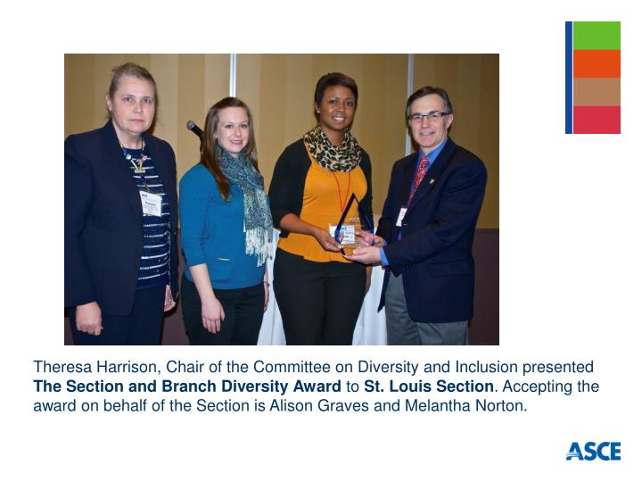 Theresa Harrison, Chair of the Committee on Diversity and Inclusion presented