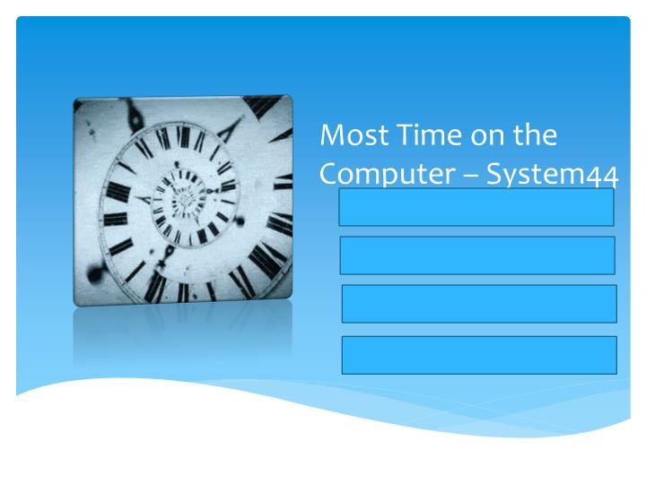 Most Time on the Computer – System44