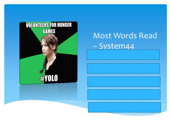 Most Words Read – System44