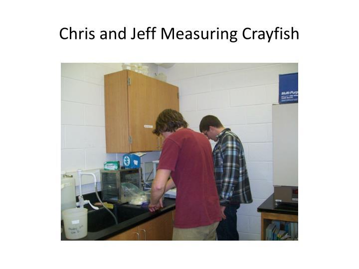 Chris and Jeff Measuring Crayfish