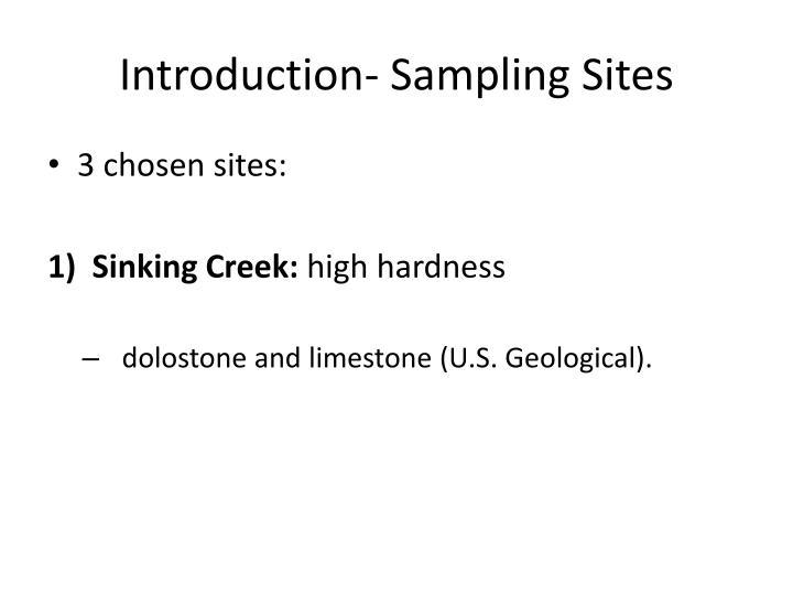 Introduction- Sampling Sites