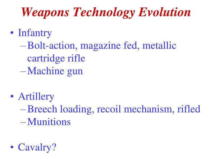 Weapons Technology Evolution