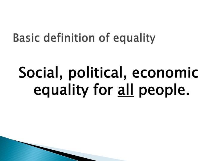 Basic definition of equality