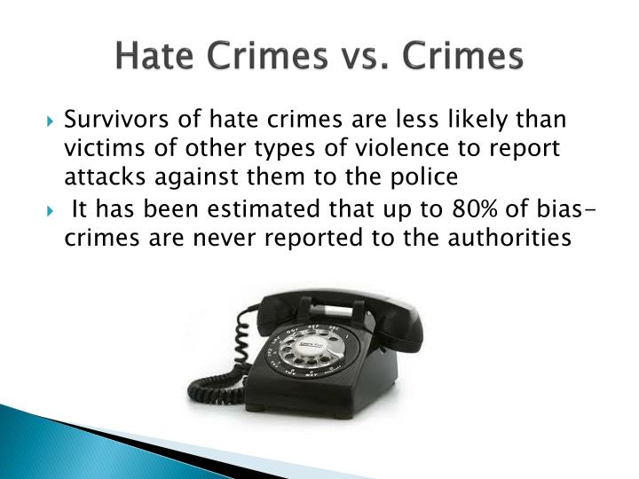 Hate Crimes vs. Crimes