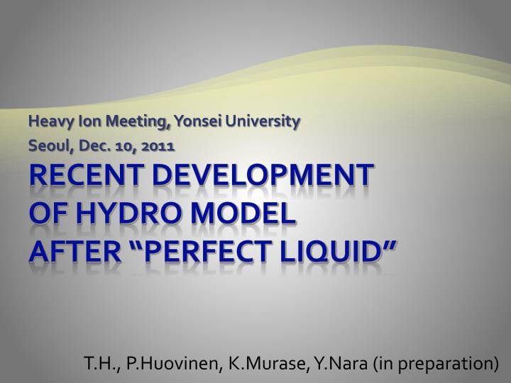 Heavy ion meeting yonsei university seoul dec 10 2011